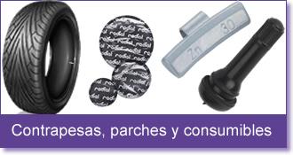 Contrapesas, parches y consumibles